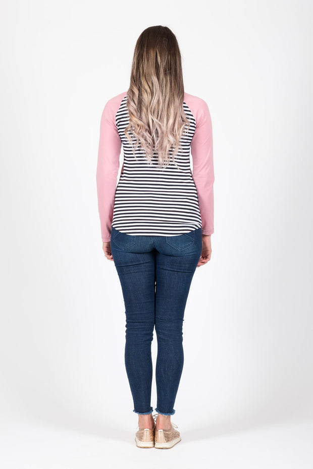 Long Sleeve Top - Dusky Pink