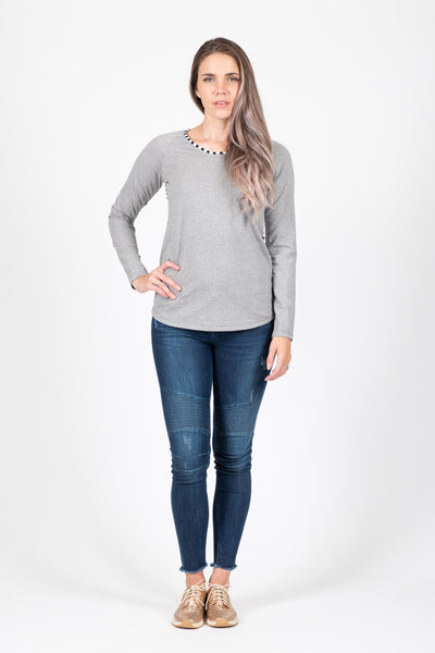 Long Sleeve Top - Grey
