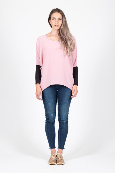 Oversized Top - Dusky Pink