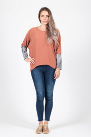 Oversized Top - Rust