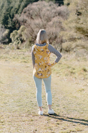 Stone Hoody - Yellow Floral / Stripe