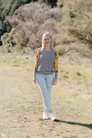 Audrey Jumper - Stripe / Yellow Floral