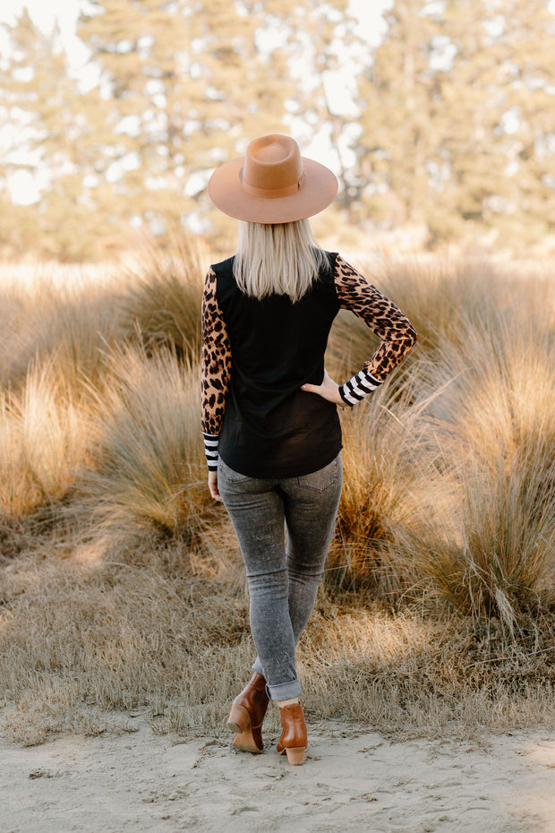 Dill Top - Black / Leopard