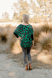 Odie Top - Green Leopard