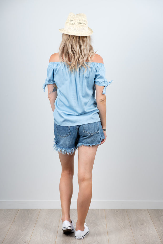 Darcie Top - Soft Blue