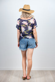 Vienna Top - Navy Floral