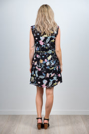 Millie Dress - Black Floral