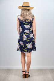 Millie Dress - Large Navy Floral