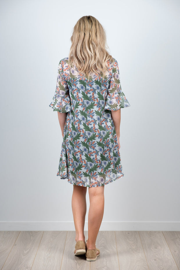 Ginny Dress - Green Floral