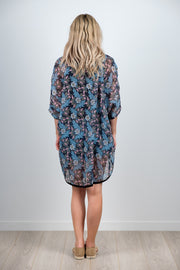 Friday Kimono - Light Blue Floral