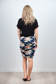 Victoria Skirt - Tropical Navy Floral