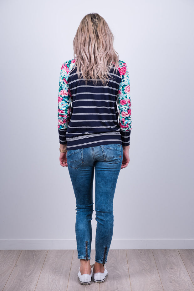 Argentina Top - Classic Floral Sleeve