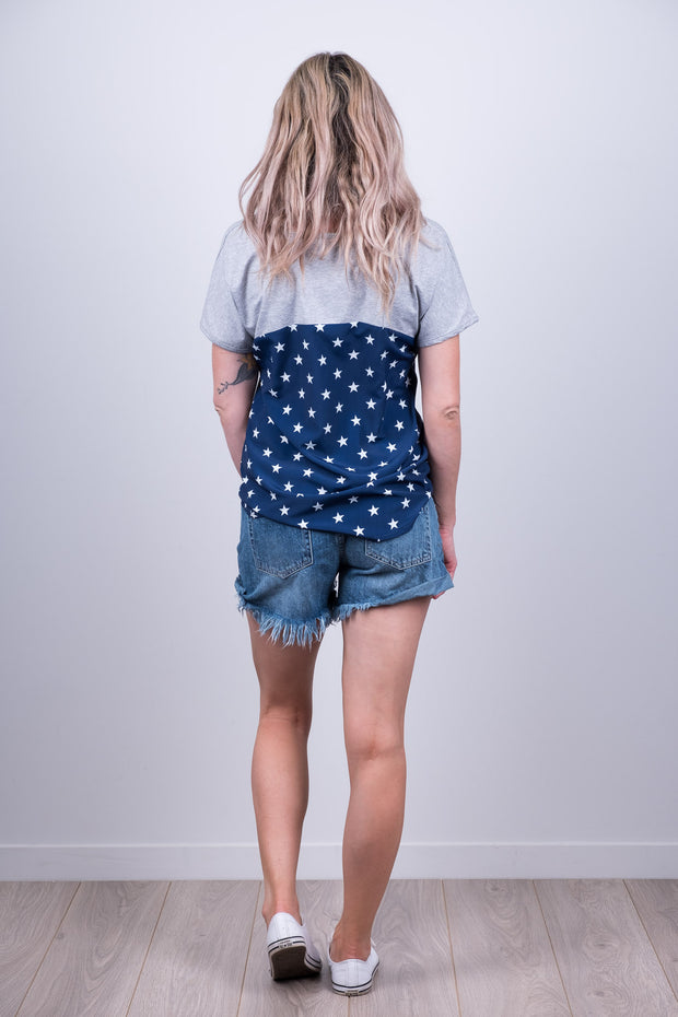Harriet Top - Navy Background Star