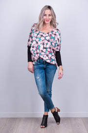 Kiera Top - Green Floral