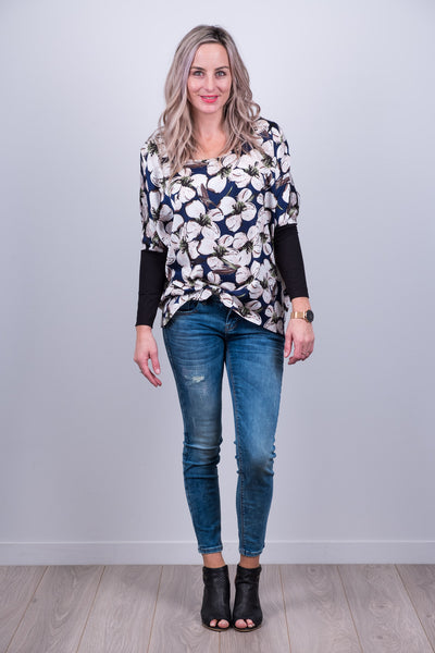 Kiera Top - Blue Floral