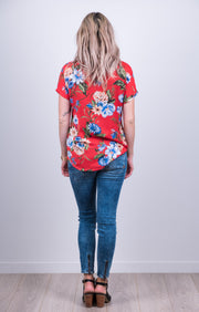 Vienna Top - Red Floral