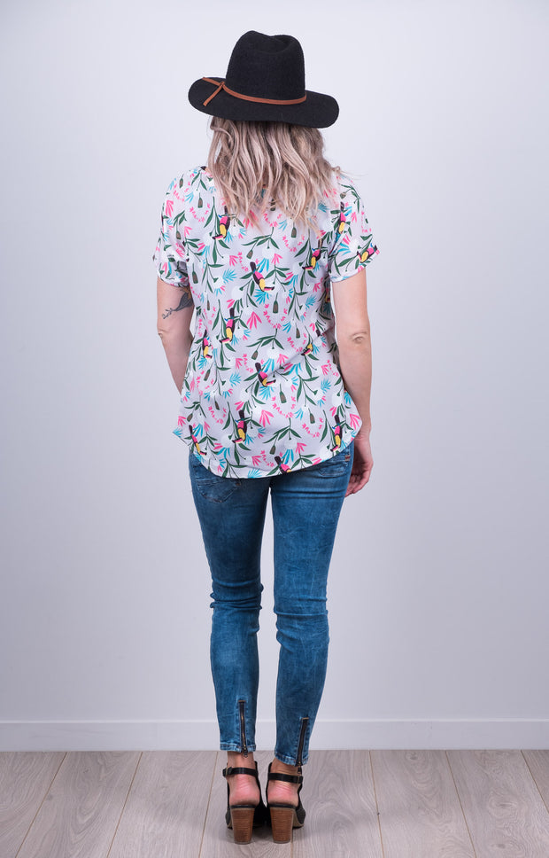 Vienna Top - Grey Tucan
