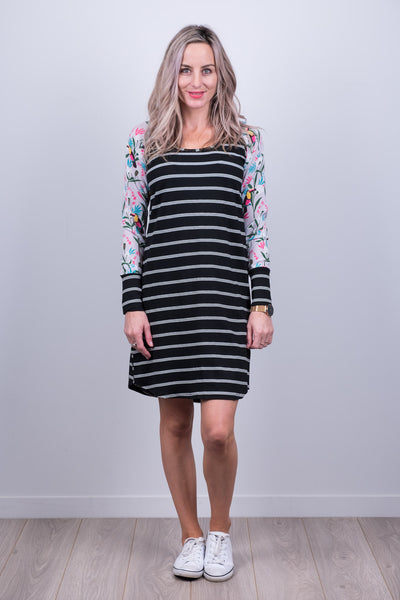 Holster Dress - Grey Tucan Sleeve