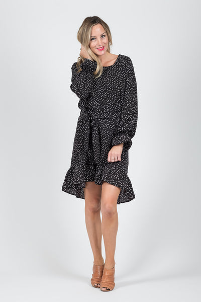 Madison Dress - Black Spot