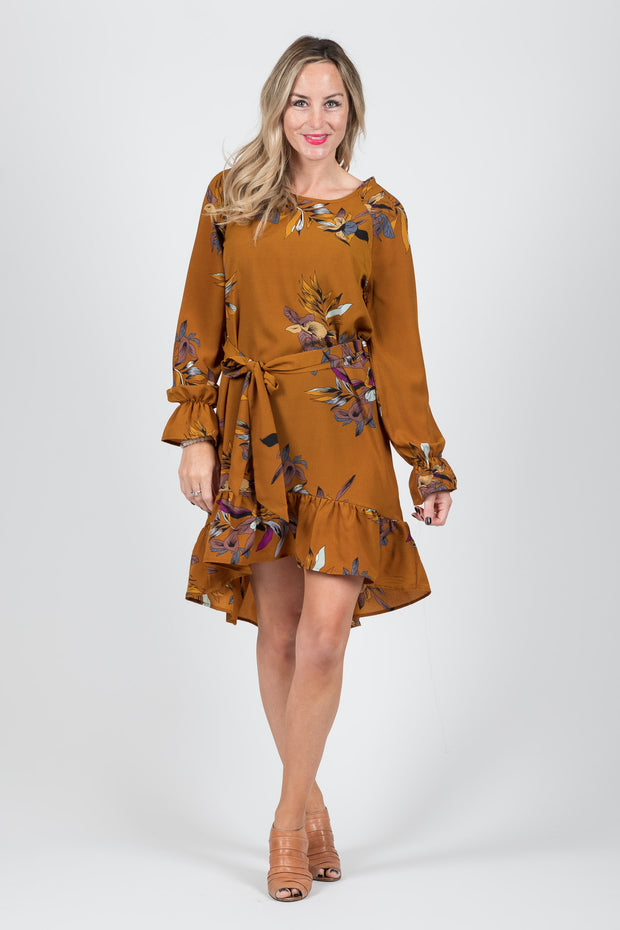 Madison Dress - Rust Floral