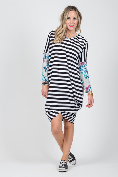 Foxglove Dress - Floral Sleeve