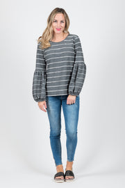 Paige Jumper - Dark Grey Stripe