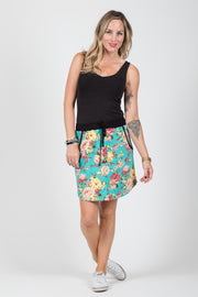 Lovey Skirt - Turquoise Floral