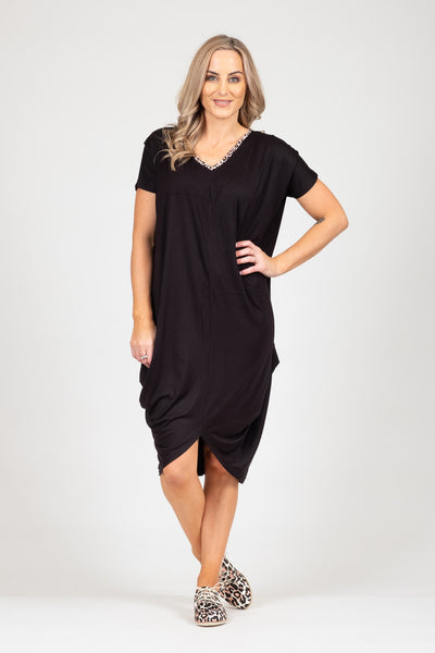 Foxglove Dress - Animal Trim