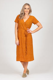 Janey Dress - Mustard Spot