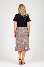 Barry Skirt  - Pink Animal Print