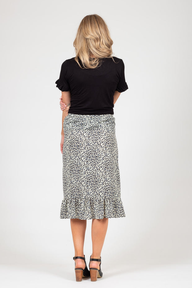 Barry Skirt  - Grey Animal Print