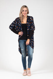 Tussock Cardi - Navy Animal