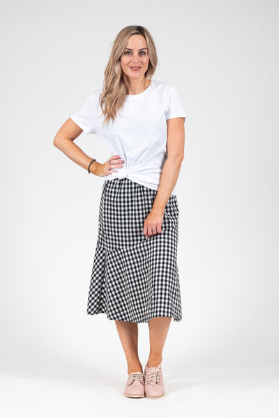 Lily Skirt - B&W Gingnam