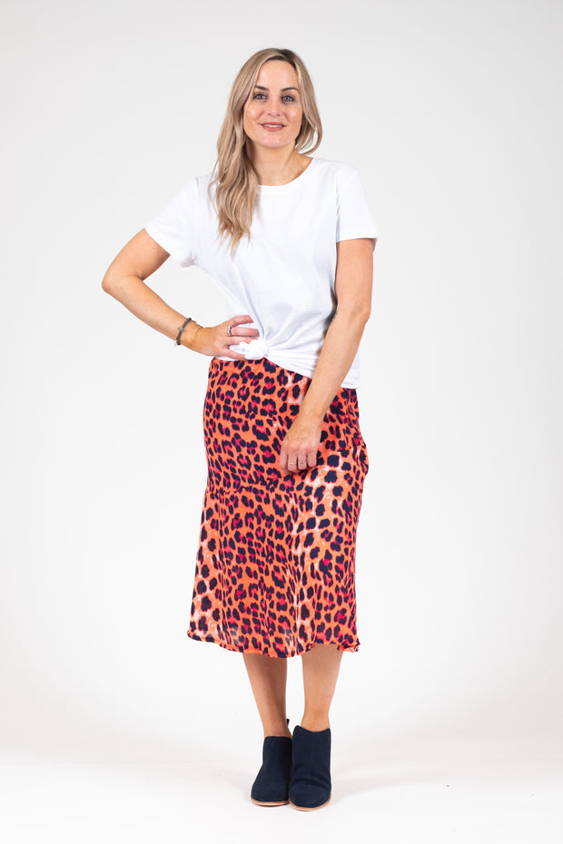 Lily Skirt - Fluro Animal