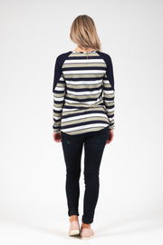 Bailey Top - Green Stripe