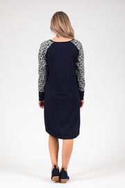 Holster Dress - Grey Animal