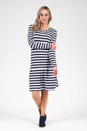 Kowhai Dress - N&W Stripe