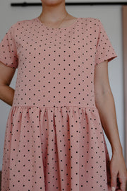 Evie Dress - Blush Spot