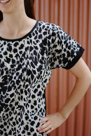 Immy Top - Black/Cream Animal