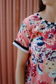Immy Top - Pink Floral