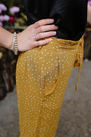 Riley Culottes - Mustard Dot