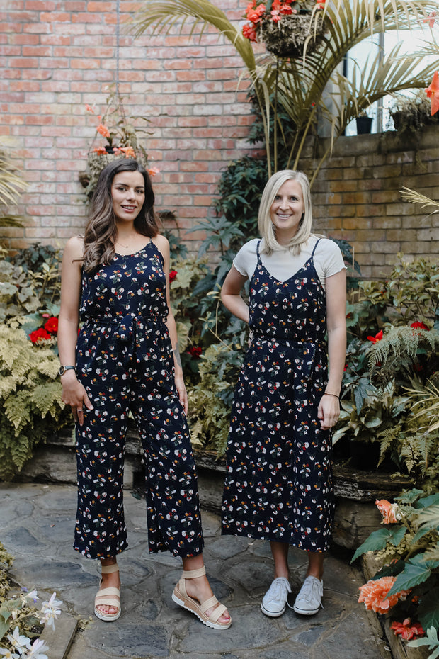Poppy Jumpsuit - Navy Floral