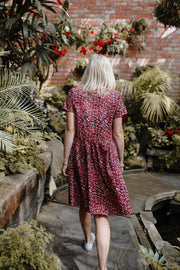 Evie Dress - Raspberry Animal