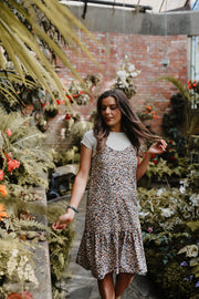 Maeva Dress - Tan Spotty Animal