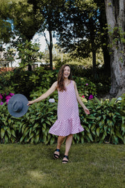 Maeve Dress - Pink Polka Dot