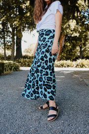 Hazel Skirt - Blue Animal