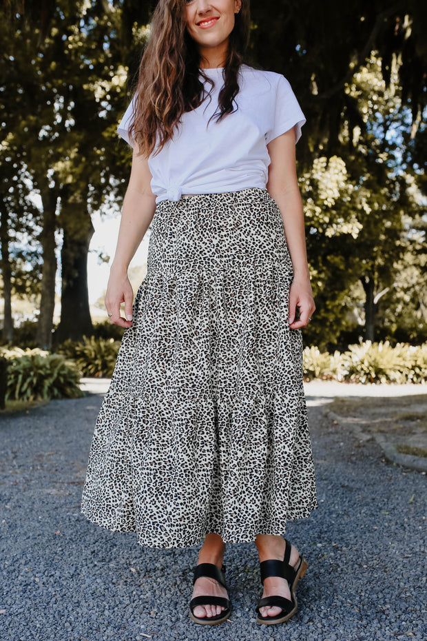 Hazel Skirt - Fawn Animal