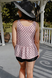 Maeve Top - Pink Polka Dot