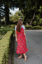 Meadow Dress - Red Floral