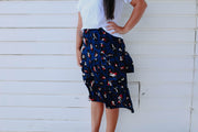 Maddison Skirt - Navy Animal